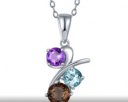 Gorgeous Pendant - Multi Gemstone - 925 Silver