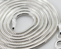 18 Inch,45 cm Long Flat Snake  Silver chain , most popular . AM363
