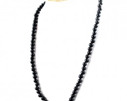 Black Spinel Round Beads Necklace