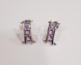 Amethyst 925 Sterling silver earrings #33411