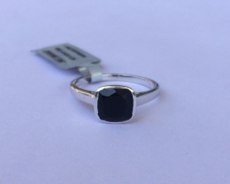 Black onyx 925 Sterling silver ring #644