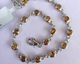 Citrine 925 Sterling silver bracelet #33070