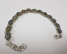Labradorite 925 Sterling silver bracelet #33071