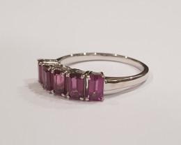 Rhodolite Garnet 925 Sterling silver ring #434