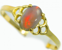 Solid Opal 18k Yellow Gold Ring SB941