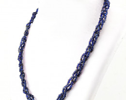 Faceted Blue Iolite Beads Necklace