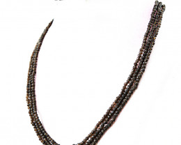 Smoky Quartz Faceted Beads Necklace