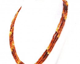 Hessonite Garnet Beads Necklace