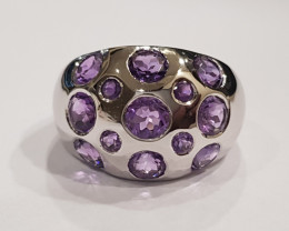Amethyst 925 Sterling silver ring #034