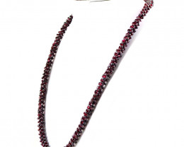 Red Garnet Beads Necklace