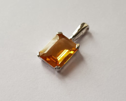 Citrine 925 Sterling silver pendants #34125
