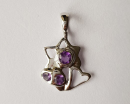 Amethyst 925 Sterling silver pendant #34132