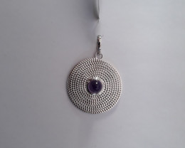 Bullet Amethyst 925 Sterling silver pendant #34228