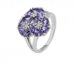 Tanzanite 925 Sterling silver ring #10237