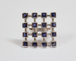 Iolite 925 Sterling silver ring #34005r