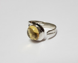 Citrine 925 Sterling silver ring #242
