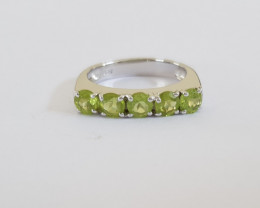Peridot 925 Sterling silver ring #249