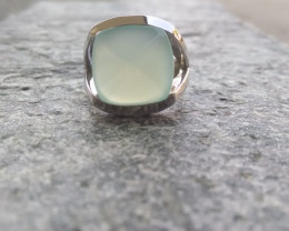 Blue Chalcedony 925 Sterling silver ring #273