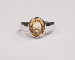 Citrine 925 Sterling silver Unisex ring #310