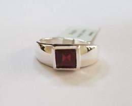 Garnet 925 Sterling silver ring #313