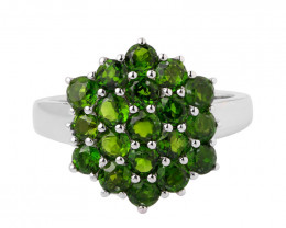 Chrome diopside 925 Sterling silver ring #411