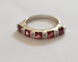 Rhodolite 925 Sterling silver ring #415