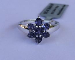Iolite 925 Sterling silver ring #464