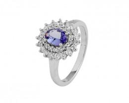 Tanzanite 925 Sterling silver ring #479