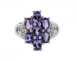 Tanzanite 925 Sterling silver ring #491