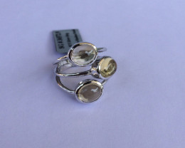 Citrine 925 Sterling silver ring #572