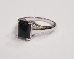 Black onyx 925 Sterling silver ring #9578