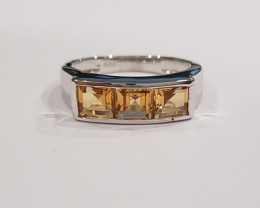 Citrine 925 Sterling silver ring #9540