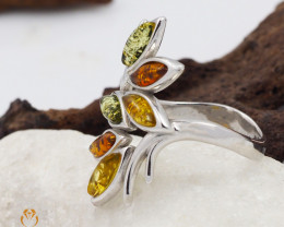 Baltic Amber Sale, SilverRing  , direct from Poland  AM 421