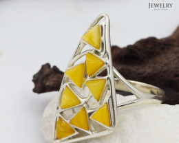 Baltic Amber Sale, SilverRing  , direct from Poland  AM 427