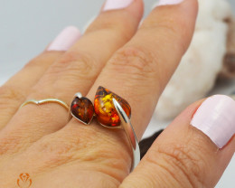 Baltic Amber Sale, SilverRing  , direct from Poland  AM 440