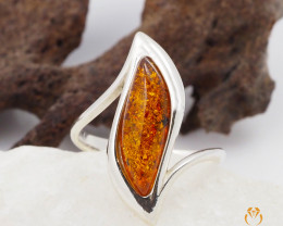 Baltic Amber Sale, SilverRing  , direct from Poland  AM 441