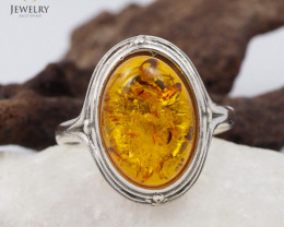 Baltic Amber Sale, SilverRing  , direct from Poland  AM 449