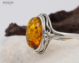 Baltic Amber Sale, SilverRing  , direct from Poland  AM 450