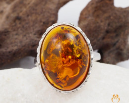 Baltic Amber Sale, SilverRing  , direct from Poland  AM 451