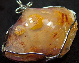 SHELL FOSSIL PENDANT 61.45 CTS [GT728 ]