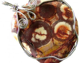 LARGE BIRDS EYE JASPER [MEXICO] PENDANT 77.80 CTS [GT1024 ]
