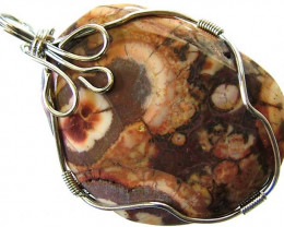 LARGE BIRDS EYE JASPER [MEXICO] PENDANT 69.05 CTS [GT990 ]
