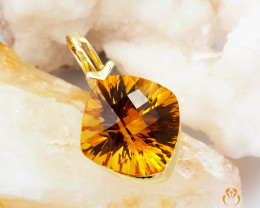 14 K Yellow Gold Citrine Pendant A P11109 3250