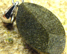 SHIMMERING PYRITE SILVER PENDANT 6.80 CTS [SJ434]