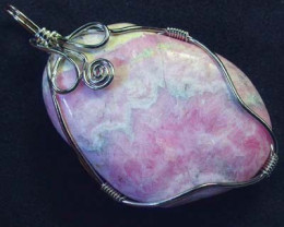 RHODOCHROSITE WIRE WRAPPED 65.00 CTS [GT343 ]