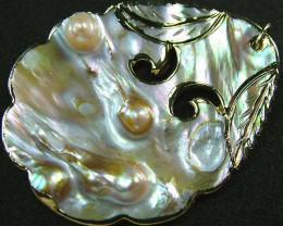 PEARL SHELL PENDANT 66 CTS [MX2103 ]