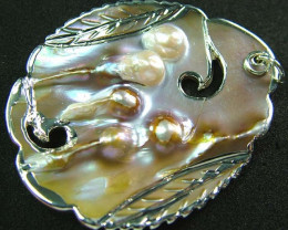 PEARL SHELL PENDANT 90 CTS [MX2112 ]