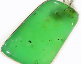 94.55 CTS LARGE CHRYSOPRASE SILVER PENDANT-FACTORY DIRECT [SJ4655]