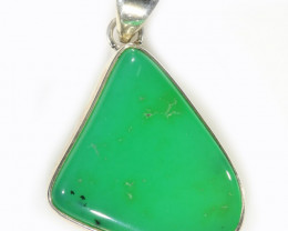 63.55 CTS LARGE CHRYSOPRASE SILVER PENDANT-FACTORY DIRECT [SJ4652]