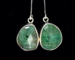 14.55 CTS EMERALD EARRINGS -FACTORY DIRECT [SJ4715]